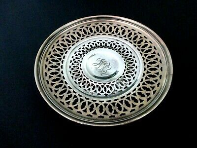 Beautiful Antique Sterling Silver Open Work Bowl Candy Dish 101 gr.