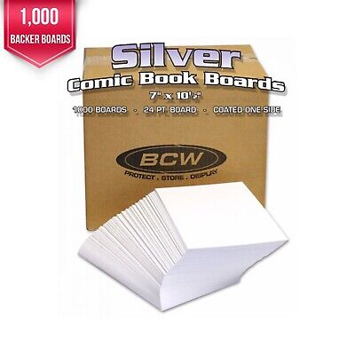 Case of 1,000 Bulk Packed BCW Silver Age Acid Free Comic Book Backer Boards