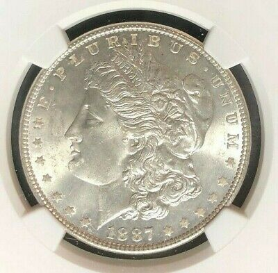 1887 Morgan Silver Dollar ~ Ngc Ms 64 Ref#012