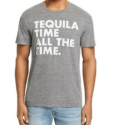 a0f91eae NWT Chaser Men's Tequila Time All the Time T-Shirt, Heather Grey (Size