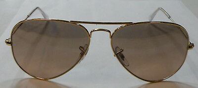 87a9ed23031 NEW RAY BAN Aviator Sunglasses Gold Frame RB 3025 001 3E Pink Mirror ...