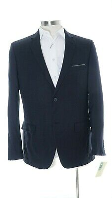 a7ae14a927d5 Alfani Slim Fit Blue   Black Textured Two Button Sportcoat Blazer 44S