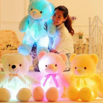 50cm Creative Light Up LED Teddy Bear Stuffed Animals Plush Toy Colorful Glowing