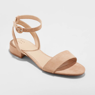 276e09857cc WOMEN S WINONA ANKLE Strap Sandal - A New Day- Taupe -  17.99