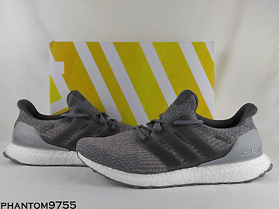 b17497b109758 Adidas Ultra Boost M ESM Grey Four Trace Pink 3.0 White S82022 Black Silver  Gray