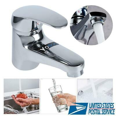 Kitchen Bathroom Tub Sink Faucet Water Filter Single Handle Tap Chrome Modern US