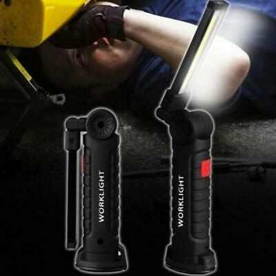 USB COB LED Magnetic Work Light Car Mechanic Home Rechargeable Torch Lamp