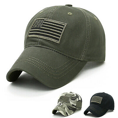 pretty nice 38983 27ad0 Men s US Flag Army Military Hat Baseball Snapback Sport Cargo Casual Ball  Caps