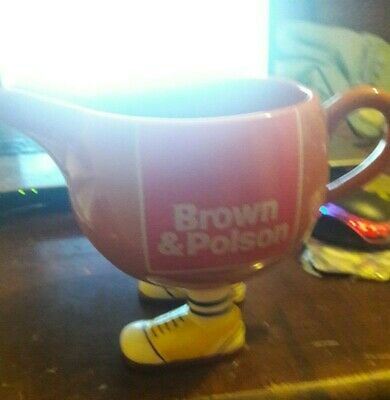 Brown and Polson Legs Gravy Jug.