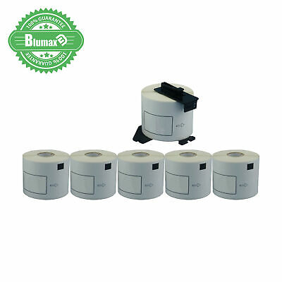 5+1 Blumax Rolls Compatible DK-11208 BROTHER White Large Address Labels