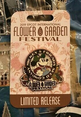 Disney Epcot Flower and Garden Festival 2019 Mickey Mouse Logo Disney Pin New
