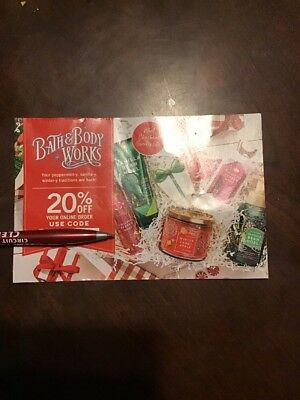 20% Percent Bath & Body Works Coupon Online Purchase Expires March-24-19