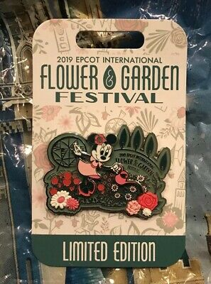 Disney Epcot Flower and Garden Festival 2019 Minnie Mouse Garden Pin LE 4000 New