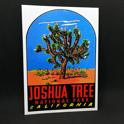 JOSHUA TREE National Park DECAL / Vintage Style Vinyl Travel STICKER, California