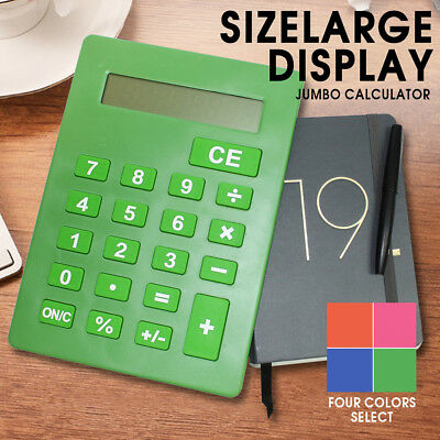 Jumbo Calculator Large Size Display Digit 8 Desktop Big Buttons Fast Delivery AU