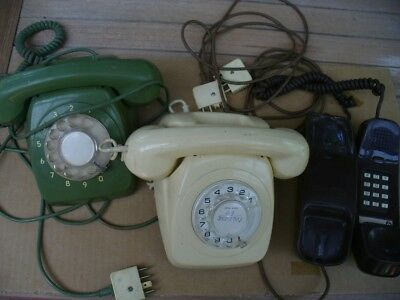 3 Old Collectable Telephones