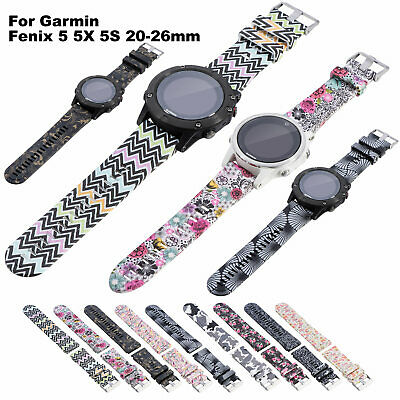 For Garmin Fenix 5 5X 5S 20-26mm Sport Silicone Watch Band Strap Replacement New
