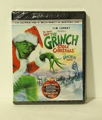 How the Grinch Stole Christmas 4K (2-Disc Set, Canadian 4K Ultra HD, Blu-ray,