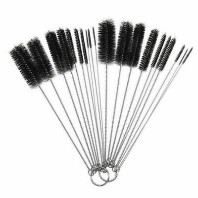 New Nylon Straw Brush Cleaner Bottle Tube Pipe Small Long Cleaning 10P CLW