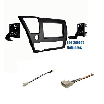 2 Din Car Stereo Radio Dash Wire Kit Combo for some Nissan NV//Rogue//Quest//Versa