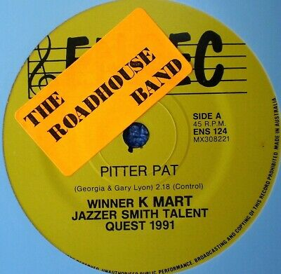 """The Roadhouse Band-Pitter Pat/Run Billy Run-Oz Country With Pamphlet-45 Rpm 7"""""""