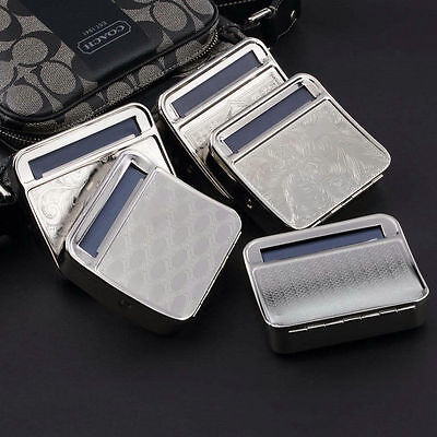 Metal Automatic Cigarette Tobacco Roller Roll Rolling Machine Box Case Tin BY