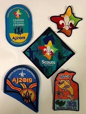 AJ2019 Official Contingent Badges & New Logo from 25th Australian Scout Jamboree
