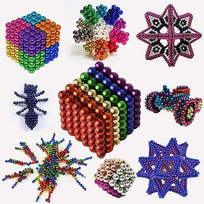5MM 216Pcs Magic Magnetic DIY Balls 3D Magnet Cube Magnets Block Mixed color AU