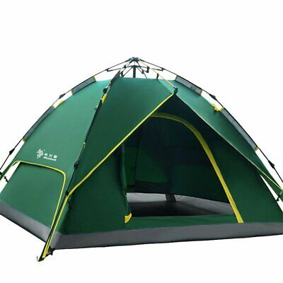 Large 3-4 Person Man Family Hydraulic Tent 2 Layer Camping Group Tent Canopy