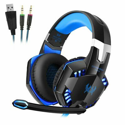 3.5mm Gaming Headset MIC LED G2000 Headphone for PC Laptop PS4 Slim Xbox One