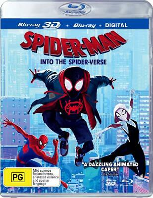 SPIDER-MAN (2018) INTO THE SPIDER-VERSE Animated, Spiderman Au RgFree 3D+BLU-RAY