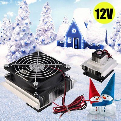 12V 60W Thermoelectric Peltier Refrigeration Cooling System Kit Cooler Fan AO