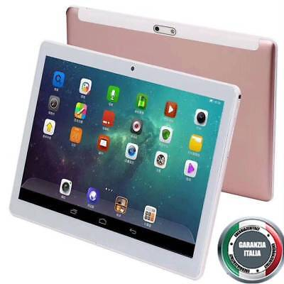 PC Tablet 10.1 Pollici Octa Core 64GB Rom 4GB Ram Android 7 Dual Sim 3G Rosa