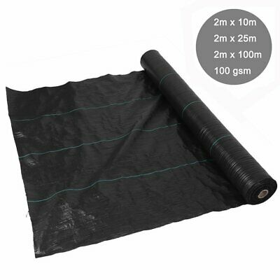 2m wide 100gsm weed control fabric ground cover membrane landscape mulch