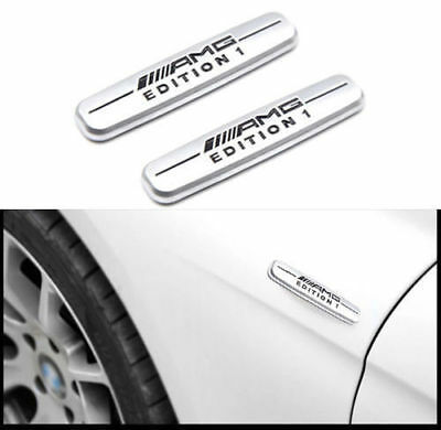 2x AMG Edition 1 Emblema Multimedia Auto Aufkleber Plakette Badge for Benz AMG