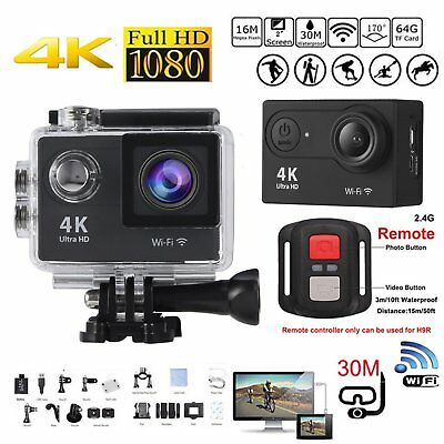 Ultra HD 4K WIFI Sports Action Camera Waterproof DV Camcorder 16MP Cam Lot KI