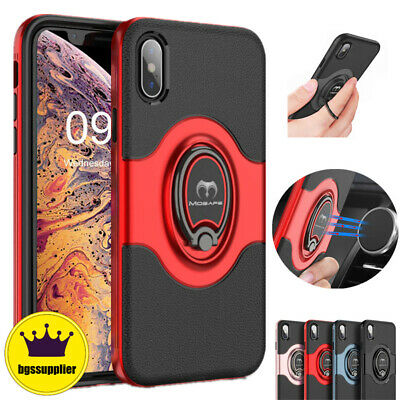 For iPhone 8 7 Plus XR X XS Max Shockproof Case Ring Holder Protective Cover