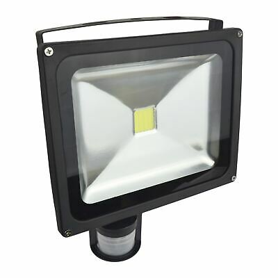 LED 30w Floodlight PIR Security 2100 Lumen 6000k Day White Waterproof E12