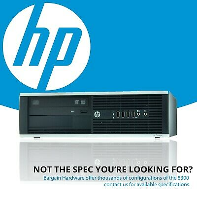 HP Elite 8300 Small Form Desktop PC, 4th Gen i7 Quad Core 8GB RAM Win 10 DVD 1TB