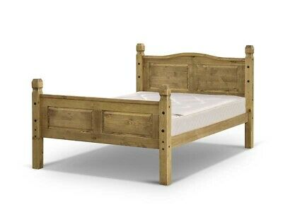Snuggle Beds Corona Mexican High Foot End Solid Pine Wood Slatted Bed Frame