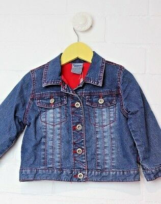 PUMPKIN PATCH Denim Jacket with fleece lining Size 2 warm winter coat boys girls