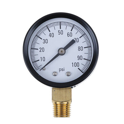 """TS-50-100PSI 1/4"""" low lead pressure gauge for fuel air oil gas water ME"""