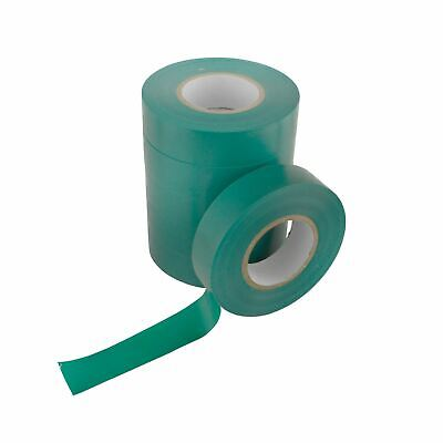 PVC Insulation Electricians Electrical Tape Green 6 Reels Flame Retardant