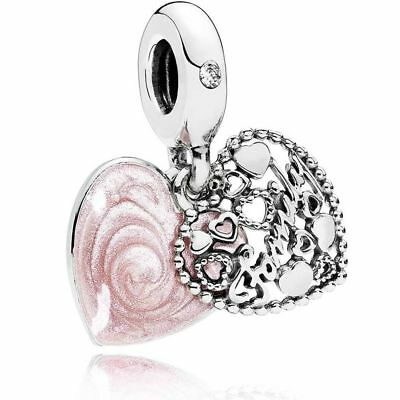 92696be594d92 GENUINE PANDORA ROSE Collection Love Makes a Family Charm - 787278 ...