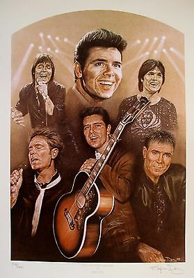 "STEVE DOIG ""CLIFF RICHARD ONCE IN EVERY LIFETIME"" Hand Signed Lithograph"