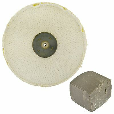 "Coarse Sisal Fast Cut Buffing Polishing Mop 10"" x 1"" 2 Row With Compound 250g"