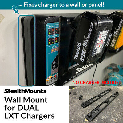 StealthMounts Wall Mount for Makita 18v Dual Port Double LXT Battery Charger