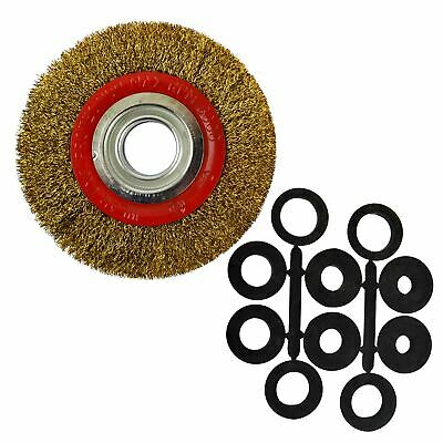"""Steel Wire Wheel 150mm with Brush Adapters  6"""" and 8"""" Bench Grinders SIL288"""
