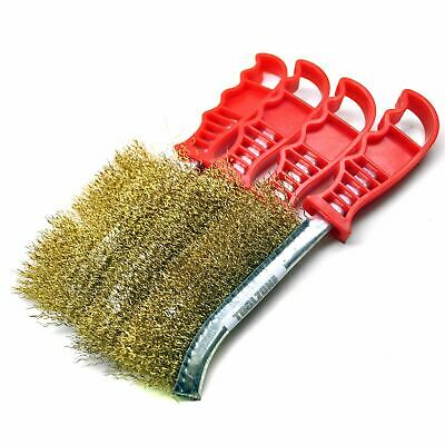 Brass Plated Rust Removal Cleaning Hand / Spid Brush (4 Pack) TE221