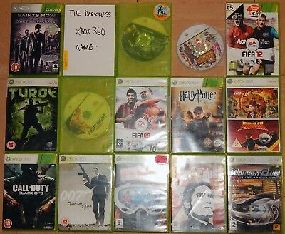 Microsoft Xbox 360 Games Bundle x17 + 2 wireless controllers